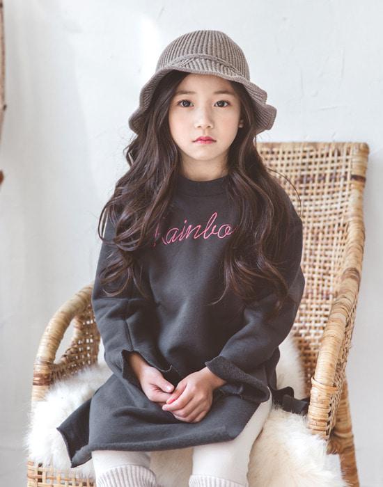 韩国官网进口童装代购[BHW] 레인보우 롱 티.tsh女长款t恤(韩国国际快递直发包邮)