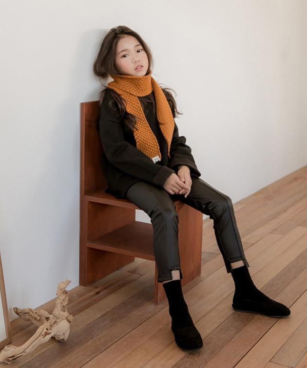 韩国官网进口童装代购[BIW] 하프 롱 티.tsh女长款t恤(韩国国际快递直发包邮)